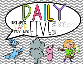 Daily 5 - Mo Willems Characters [includes CAFE posters!]