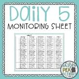 Daily 5 Monitoring Sheet
