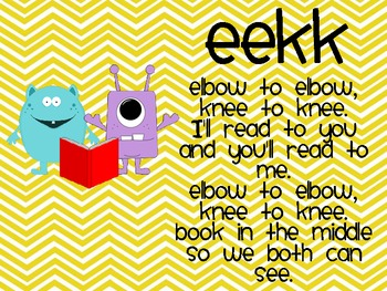 Daily 5 Monster Themed EEKK, I Pick, and 3 Ways to Read a Book Posters