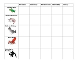 Daily 5 Ocean Themed Sheet Tracker