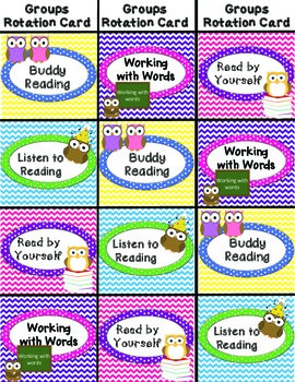 Daily 5 Owl BookMarks