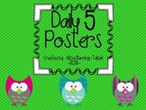 Daily 5 Owl Posters