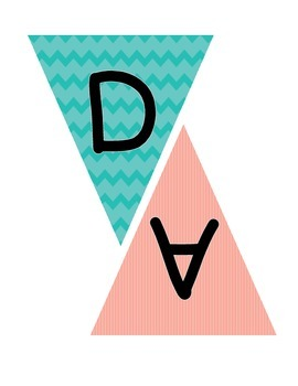 Pennant Banner for Daily 5 Bulletin Board