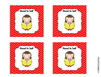 Daily Literacy Pocket Chart Schedule Cards