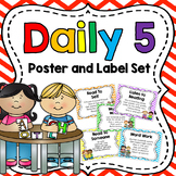 Daily 5 Poster and Label Set  {Editable}