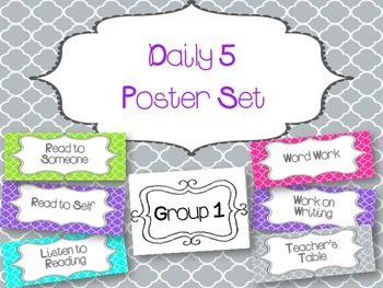 Daily 5 Poster Set
