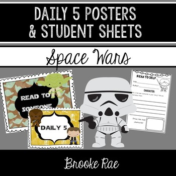 Daily 5 Poster and Student Sheets Star Wars Themed