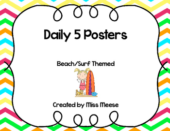 Daily 5 Posters Beach/Surf Themed