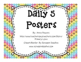 Daily 5 Posters Chevron Dots