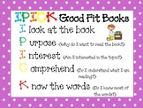 Daily 5 Posters- IPICK and 3 Ways to Read a Book- Polka Dot Theme