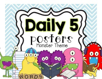 Daily 5 Posters FREEBIE {MONSTERS}