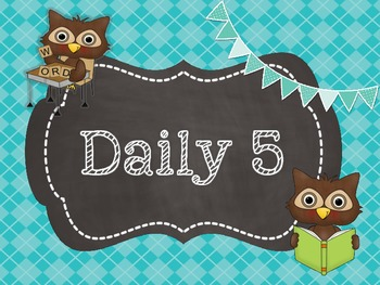Daily 5 Posters Owl Theme