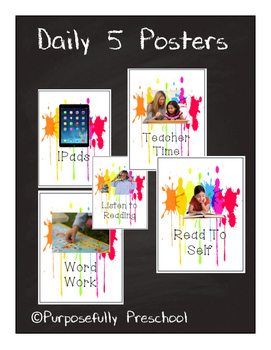 Daily 5 Posters Paint Splatter
