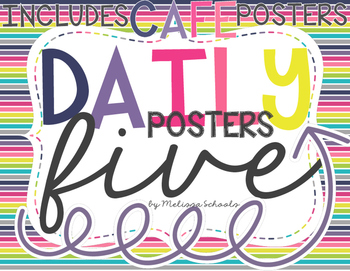 Daily 5 Posters - Stripes&Arrows [includes CAFE posters]