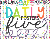 Daily 5 Posters - White & Purple Arrows [includes CAFE posters]