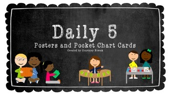 *Daily 5 Posters and Pocket Chart Cards*