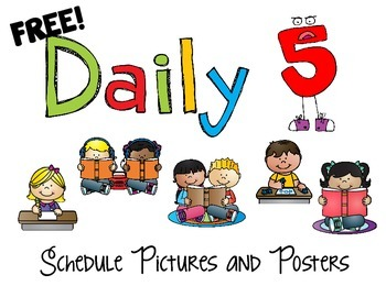 Daily 5 Posters and Schedule Cards FREEBIE