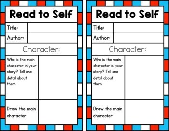 Daily 5 Posters and Student Sheets *Dr Suess*