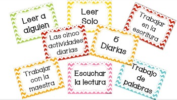 Daily 5 Posters in SPANISH