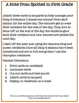 Daily 5 Praise Necklaces