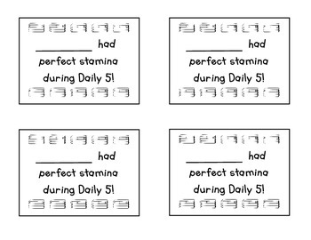 Daily 5 Punch Cards