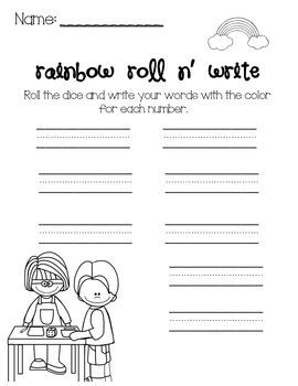 Daily 5- Rainbow Roll n Write