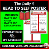 Daily 5 Read To Self Poster Chart