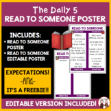 Daily 5 Read To Someone Poster Chart