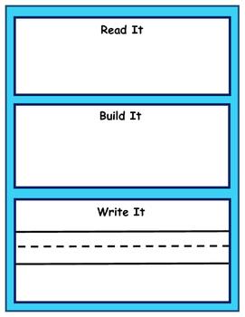 Daily 5 Read it Build it Write it