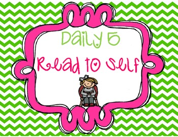 Daily 5 Read to Self Packet (FREEBIE)