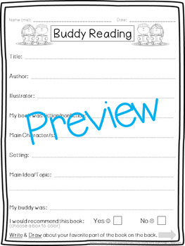 Buddy Reading (Read to Someone)