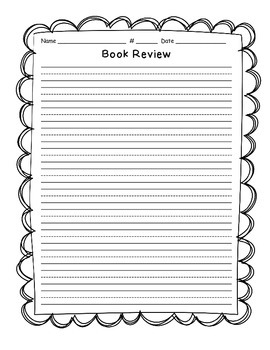 Daily 5 Reading Book Review  Templates