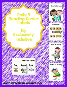 Daily 5 Reading Center Labels