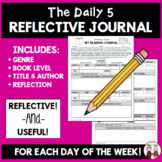 Daily 5 Reading Refection Journal Activity