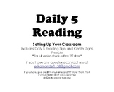 Daily 5 Reading Room Signs