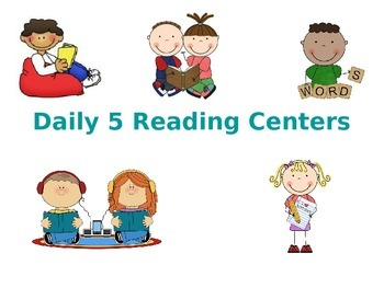 Literacy Center Rotation Display- 3 rotations