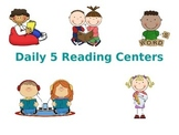 Literacy Center Rotation Display- 5 rotations