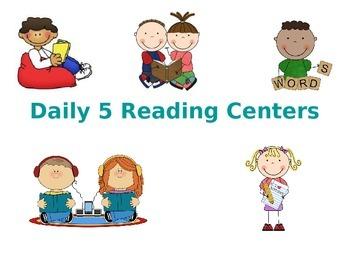 Literacy Center Rotation Display- 5 rotations