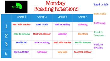 Daily 5 Reading Rotations