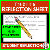 Daily 5 Reflection Sheet for Students