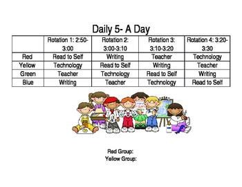 Daily 5 Rotation