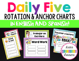 Daily 5 Rotation & Anchor Charts (English & Spanish)