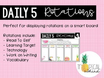 Daily 5 Rotation Board