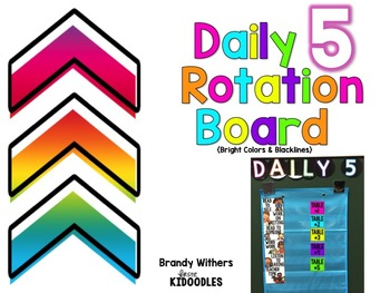 Daily 5 Rotation Board {Bright Colors & Blacklines}