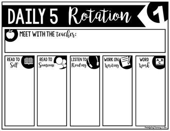 Daily 5 Rotation Board | FREEBIE