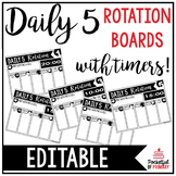 Daily 5 Rotation Boards | EDITABLE