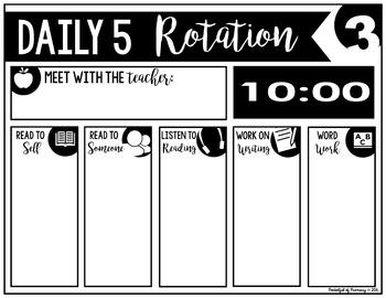 Daily 5 Rotation Boards | EDITABLE
