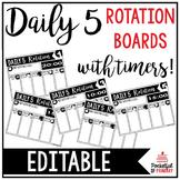 Daily 5 Rotation Boards   EDITABLE