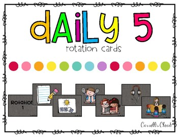 Daily 5 Rotation Cards