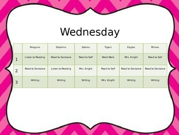 Daily 5 Rotation Chart